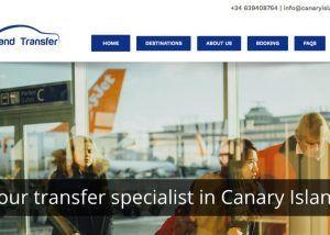 diseno web canary island transfer
